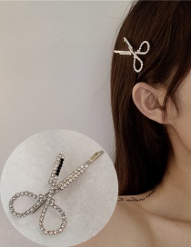 Fashion A Silver Diamond-cut Scissors Hairpin Hairpin