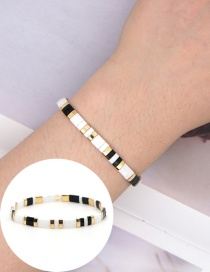 Fashion White Imported Hand-woven Beaded Bracelet