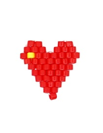 Fashion Red Imported Mizhu Hand-woven Love Jewelry Accessories