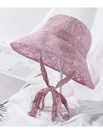 Fashion Lotus Color Pearl Lace Tethered Fisherman Hat