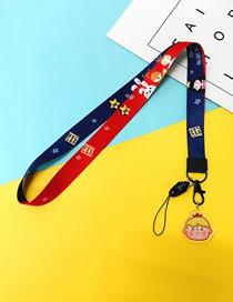 Fashion Prince 【long Rope】 Printed Resin Flower Animal Widen Mobile Phone Lanyard
