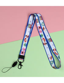 Fashion Toy Story Animal Printing Alloy Mobile Phone Work Permit Tag Rope
