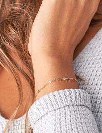 Fashion 14k Gold 14k Gold-plated Chain Fine-edged Bracelet