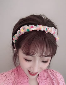Fashion Bai Cai Wave Point Fold Hoop Eugen Gauze Headband