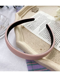 Fashion Pink Sponge Solid Color Wide-brimmed Fabric Headband