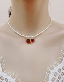 Fashion White Natural Freshwater Pearl Small Cherry Necklace