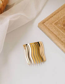 Fashion Gold (trumpet) Alloy Wave Pattern Hairpin