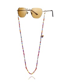 Fashion Color Round Bead Tassel Geometric Rice Beads Handmade Glasses Chain