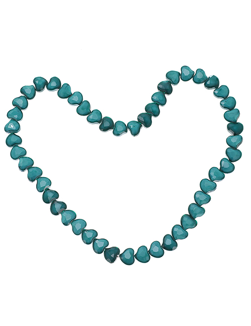 Fashion Lake Blue Resin Love Beaded Accessories