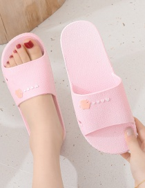 Fashion Female Pink Love Printing Non-slip Couple Sandals And Slippers