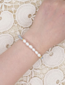 Fashion White Hand-woven Imported Watermelon Beads Natural Freshwater Pearl Bracelet