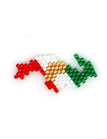 Fashion Geometric Color Mixing Rice Beads Weave Geometric Pattern Accessories
