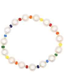 Fashion White Hand-woven Rice Beads Natural Freshwater Pearl Bracelet