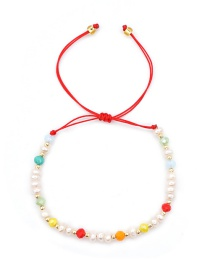 Fashion White Natural Freshwater Pearl Rice Beads Hand-woven Bracelet