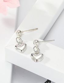 Fashion Silver Love Alloy Round Earrings
