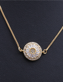 Fashion Round Handle White Faceted Round Necklace With Cylindrical Round Handle