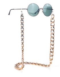Fashion Golden Color-preserving Thick Chain Alloy Anti-skid Glasses Chain