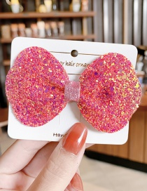 Fashion Type B-orange Pink Color Sequin Butterfly Combined With Blonde Clip