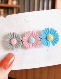 Fashion Watermelon Red Small Daisy Resin Contrast Alloy Hair Clip