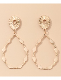 Fashion Golden Drop-shaped Alloy Hollow Earrings