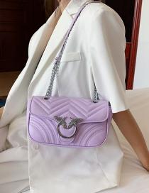 Fashion Purple Chain Shoulder Bag