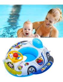 Fashion Blue Inflatable Steering Wheel With Horn Baby Yacht