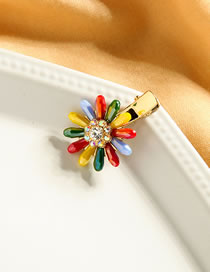 Fashion Sunflower Diamond Flower Sun Flower Hair Clip