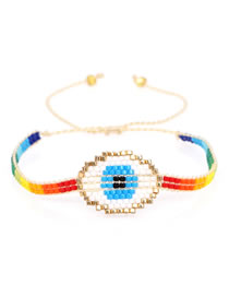 Fashion Section Three Mizhu Love Rainbow Multilayer Tassel Bracelet