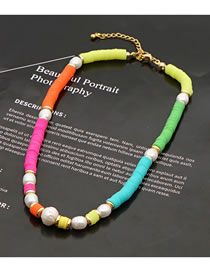 Fashion Color Necklace With Colored Clay Clay