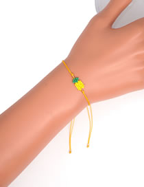 Fashion Yellow Rice Bead Woven Unicorn Bracelet