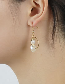 Fashion Pearl Large Circle Pearl Earrings