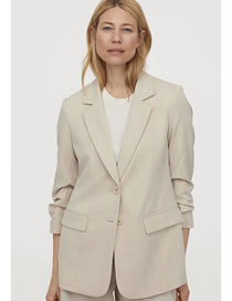 Fashion Khaki Khaki Suit Jacket
