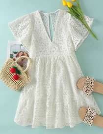 Fashion White Daisies Silk Embroidered Daisy Jumpsuit