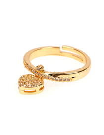 Fashion Section One Love Ring With Micro Diamonds