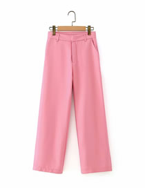 Fashion Pink Loose Straight Trousers