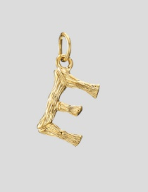 Fashion E-38+5 Bead Chain 26 Letters 316l Titanium Steel Gold Plated Necklace