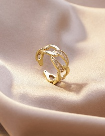 Fashion Section 13 Micro-set Zircon Stack Ring
