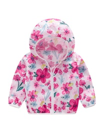 Fashion Flowers Hooded Outdoor Sun Protection Clothing