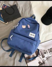 Fashion Blue Send Bear Pendant Cartoon Bear Backpack