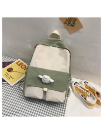 Fashion Green Naked Bag Rainbow Sheep Angel Wings Little Star Velcro Contrast Backpack