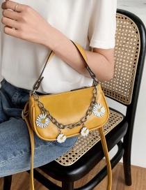 Fashion Yellow Small Daisy Chain Shoulder Bag
