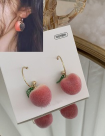 Fashion Short Peach Alloy Earrings