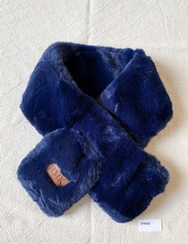 Fashion Blue Velvet Scarf