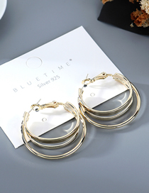 Fashion Golden Gold-plated Half Circle Cutout Earrings