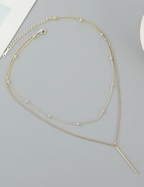 Fashion Golden Gold-plated Round Bead Double-layer Necklace