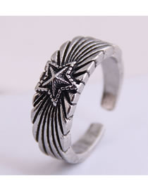 Fashion Silver Meteor Open Ring
