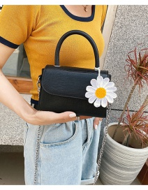 Fashion Black Small Daisy Chain Flap Cross Shoulder Bag