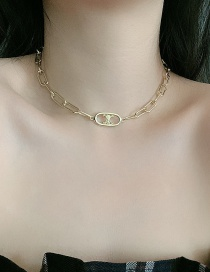 Fashion Necklace Gold-plated Geometric Hollow Alloy Necklace Bracelet