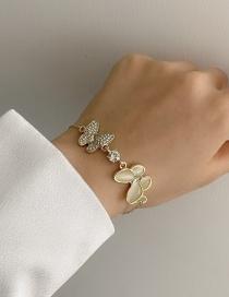 Fashion Bracelet Butterfly Mother-of-pearl Alloy Bracelet