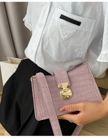 Fashion Violet Crocodile Buckle Crossbody Shoulder Bag